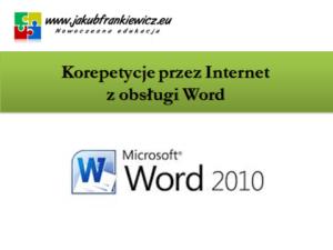 Korepetycje przez Internet z obsługi Word