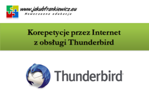 Korepetycje przez Internet z obsługi Thunderbird