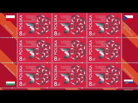 Międzynarodowy znaczek z okazji 30. rocznicy utworzenia Grupy Wyszehradzkiej