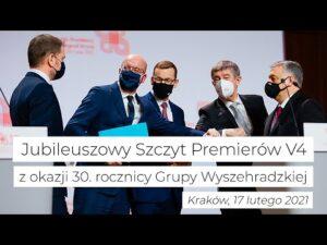 Jubileuszowy szczyt premierów V4 w Krakowie
