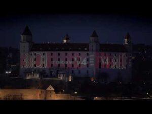 Iluminacja Zamku w Bratysławie