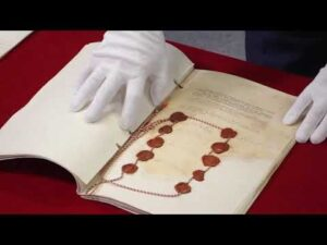 Originals of the Treaty of Riga and alliance treaties with Romania & France presented to the public