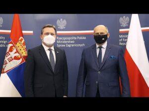 Read more about the article Wizyta w Warszawie szefa dyplomacji Serbii Nikoli Selakovicia