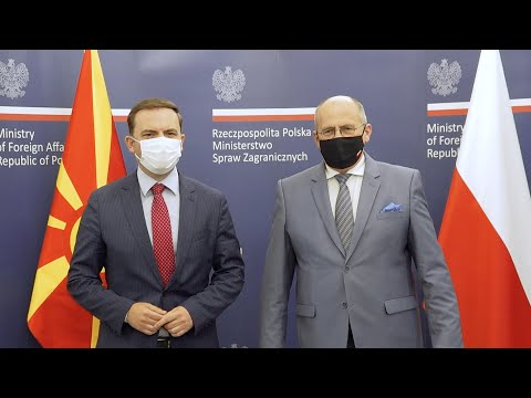 Read more about the article Wizyta w Warszawie szefa dyplomacji Macedonii Północnej Bujara Osmani