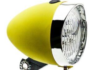 Lampa przednia retro 3 diody led ,160302 zasilane 3x aaa żółta