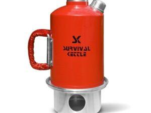 Aluminiowa kuchenka czajnik turystyczny survival kettle czerwona