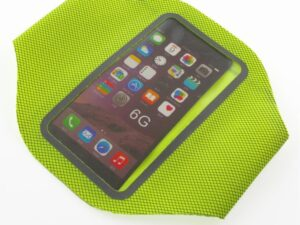 Sportowa opaska na ramię na telefon/klucze sunen, zielona