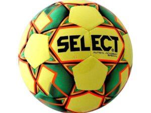 Piłka halowa select futsal academy żółto-zielona