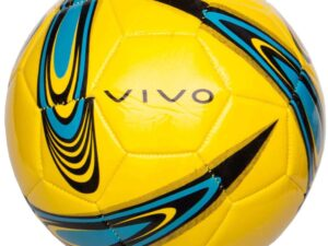 Piłka nożna vivo shape 5 żółto-niebieska