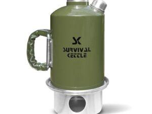 Aluminiowa kuchenka czajnik turystyczny survival kettle zielona