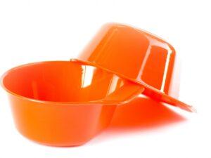 Miseczka turystyczna rockland 350 ml – 2 szt – pomarańczowa