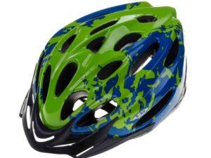 Kask biko basic pro niebieski-zielony-hm-bi405-1
