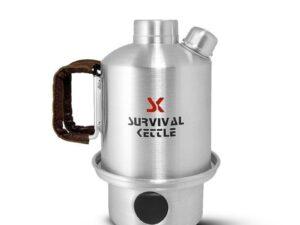 Aluminiowa kuchenka czajnik turystyczny survival kettle half srebrna
