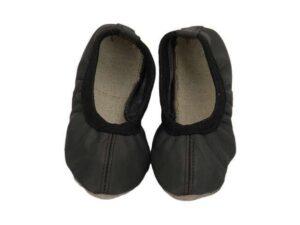 Baletki skórzane czarne