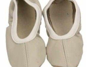 Baletki skórzane antares białe