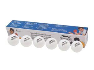 Piłeczki do tenisa stołowego slazenger białe 6 szt