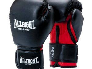 Rękawice bokserskie allright master pu czarno-czerwony 2051