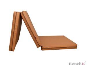 Materac gimnastyczny składany – brązowy
