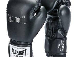 Rękawice bokserskie allright classic pu czarny 2022