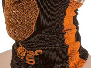 Maska treningowa, komin naroo x5 25cm czarno-pomarańczowa