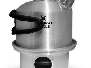 Aluminiowa kuchenka czajnik turystyczny survival kettle mini srebrna
